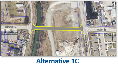 Image showing the location of the preliminary preferred alternative 1C